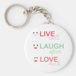 Vive el amor de la risa llavero