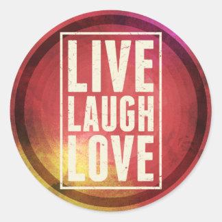 Vive el amor de la risa etiquetas redondas