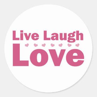 Vive el amor de la risa pegatinas redondas