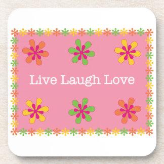 Vive el amor de la risa posavasos de bebidas