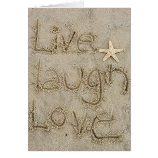 vive el amor de la risa tarjetas