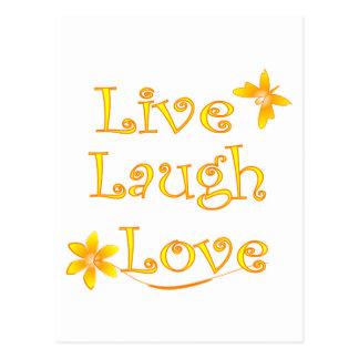 Vive el amor de la risa tarjetas postales