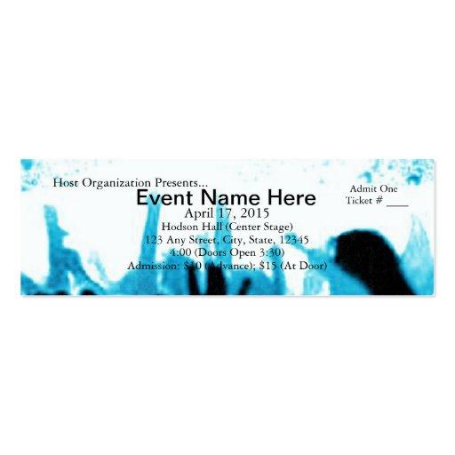 Vive el boleto del personalizable del acontecimien plantilla de tarjeta de negocio