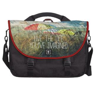 Vive el bolso del viajero de la vida bolsas para portatil