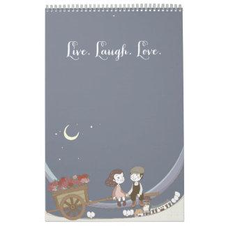 Vive el calendario del amor de la risa
