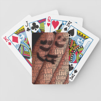 Vive el cuaderno del amor de la risa barajas de cartas