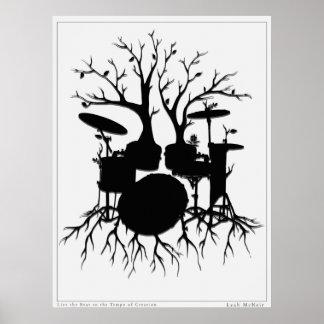 Vive el golpe al tempo del arte del tambor del ~ póster