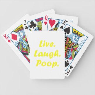 Vive el impulso de la risa baraja de cartas bicycle