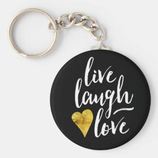 Vive el llavero del amor de la risa