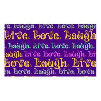 Vive femenino púrpura de las palabras Encouraging  Tarjeta De Visita