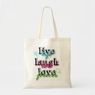 Vive la bolsa de asas del amor de la risa