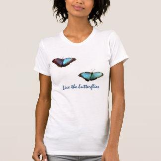 Vive la camiseta de las mariposas