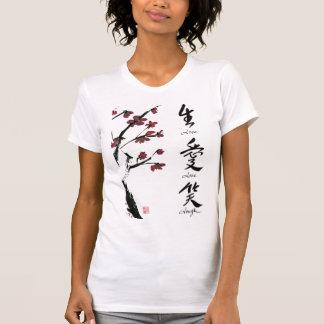 Vive la camiseta del amor de la risa remera