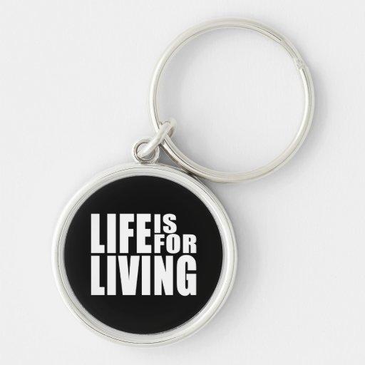 Vive la cita positiva del mantra: La vida está par Llaveros