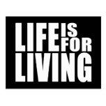 Vive la cita positiva del mantra: La vida está Postal
