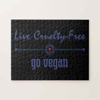 Vive la crueldad libre, va vegano puzzles con fotos
