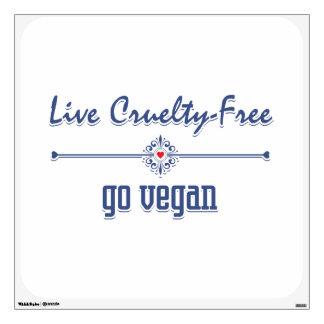 Vive la crueldad libre, va vegano vinilo decorativo