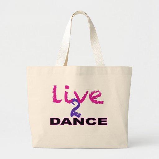 Vive la danza 2 bolsa de tela grande