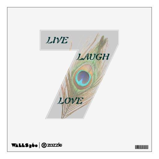Vive la etiqueta de la pared de la pluma 7 del pav