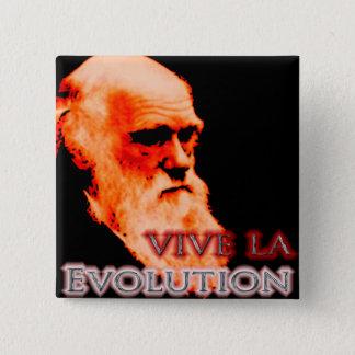 Vive La Evolution Redoux Pinback Button