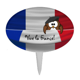 Vive la France! Cake Topper