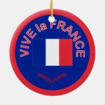 Vive la France Christmas Ornament