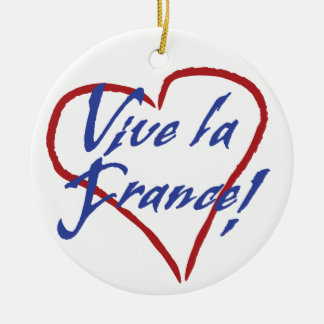 Vive la France Christmas Ornament