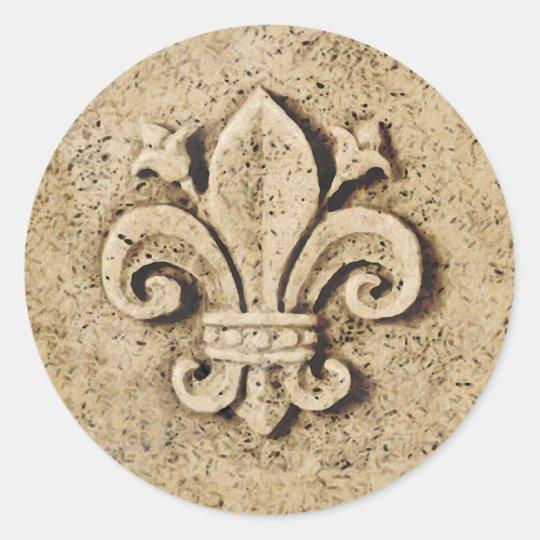 Vive La France Classic Round Sticker