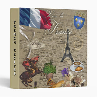 Vive la France (customizable) 3 Ring Binder