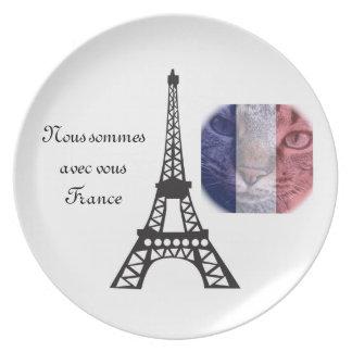Vive la France Dinner Plate