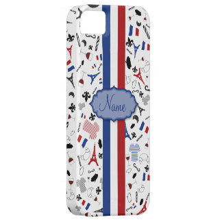 Vive la France- famous items with flag iPhone SE/5/5s Case