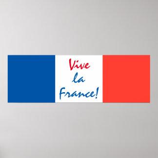 Vive La France French Flag Customizable Poster