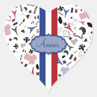 Vive la France Heart Sticker