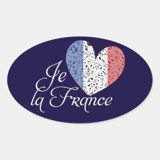 Vive la France Oval Sticker