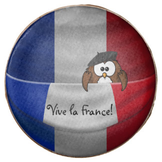 Vive la France owl Chocolate Covered Oreo