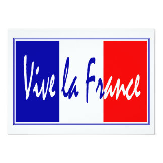 Vive La France Party Invitation with French Flag