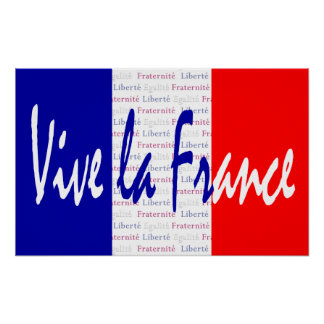 Vive La France Poster, French Food, Wine, Sports Poster