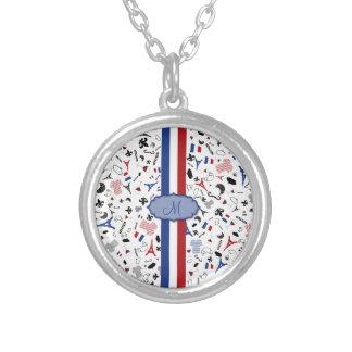 Vive la France Round Pendant Necklace