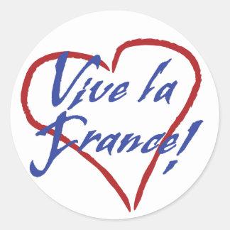 Vive la France Round Sticker