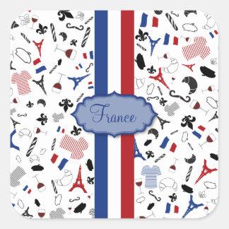 Vive la France Square Sticker
