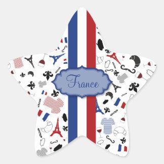Vive la France Star Sticker