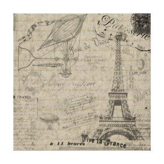 Vive la France Stretched Canvas Print