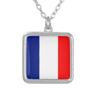 VIVE LA FRANCE STRIPE20 SQUARE PENDANT NECKLACE