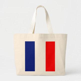 VIVE LA FRANCE tricolor canvas tote bag