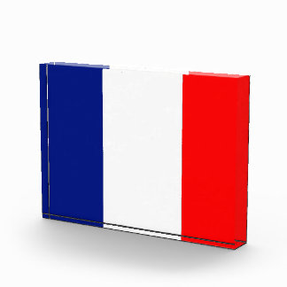 VIVE LA FRANCE tricolor STRIPE20 Acrylic Award