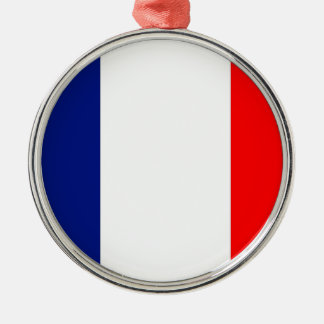 VIVE LA FRANCE tricolor STRIPE20 Metal Ornament
