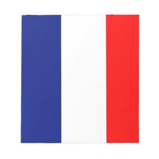 VIVE LA FRANCE tricolor STRIPE20 Notepad