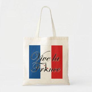Vive la France Typography Budget Tote Bag