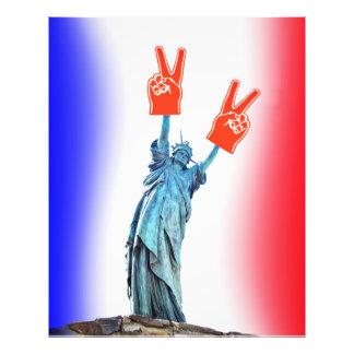VIVE LA FRANCE Wave Photo Print