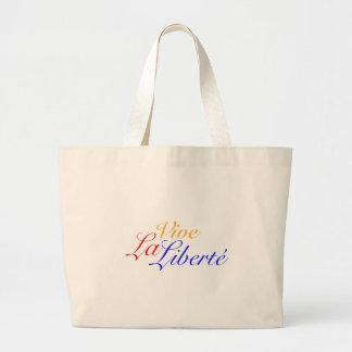 Vive La Liberté - Let Freedom Live French Large Tote Bag
